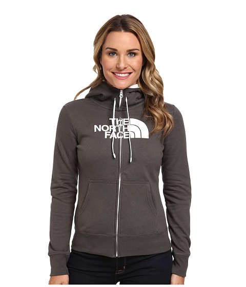 The North Face - Half Dome Full Zip Hoodie (Graphite Grey/TNF White) Women's Fleece