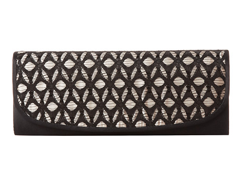 Jessica McClintock - Crochet Flap Clutch (Champagne) Clutch Handbags