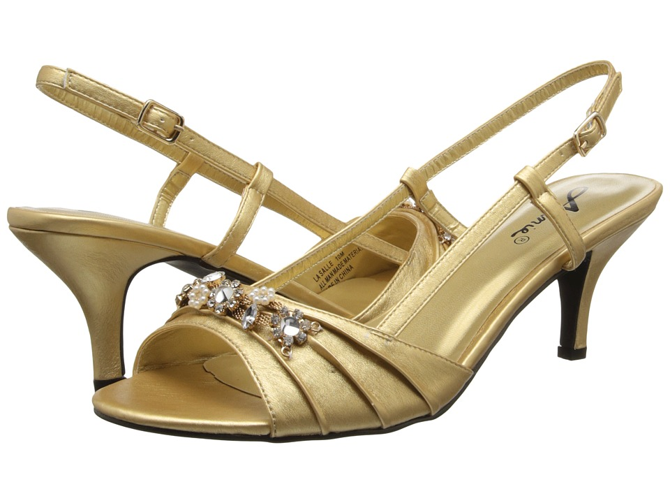 Annie - La Salle (Gold Smooth) Women's Sling Back Shoes