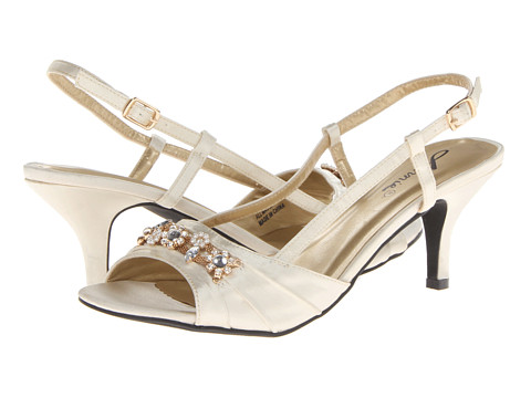 Annie - La Salle (Ivory Satin) Women's Sling Back Shoes