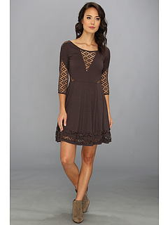 SALE! $59.99 - Save $68 on Free People To The Point Mini Dress (Charcoal) Apparel - 53.13% OFF $128.00