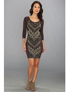 SALE! $59.99 - Save $58 on Free People Out Of Africa Dress (Charcoal Combo) Apparel - 49.16% OFF $118.00