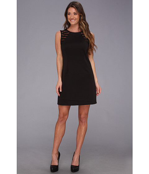 BCBGeneration - Scuba Zip Dress (Black) Women's Dress