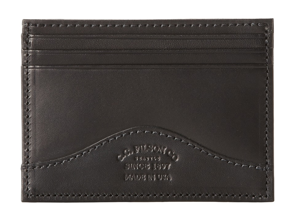 Filson - Money Clip with Credit Card Case (Black) Credit card Wallet