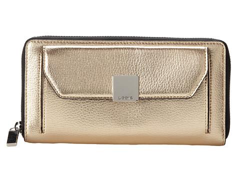 Lodis Accessories - Pebble Metallic Iris Zip Around Wallet (Soft Gold) Cross Body Handbags