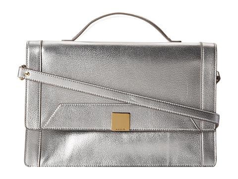 Lodis Accessories - Pebble Metallic Celia Messenger (Silver) Satchel Handbags