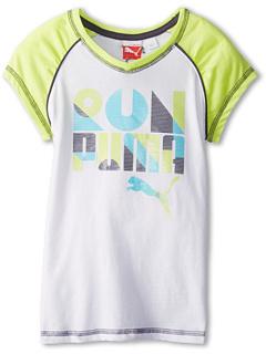 SALE! $9.99 - Save $10 on Puma Kids Short Sleeve Run PUMA Tee (Little Kids) (White) Apparel - 50.05% OFF $20.00