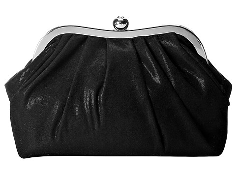 Jessica McClintock - V92254 Pleated Frame Clutch (Black) Clutch Handbags