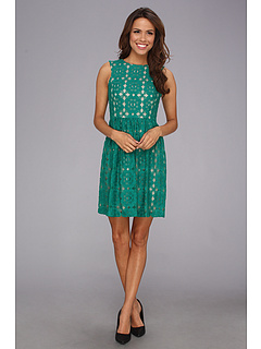 SALE! $94.99 - Save $63 on Ivy Blu Maggy Boutique Sleeveless Cutaway Lace Fit And Flare Dress (Jade) Apparel - 39.88% OFF $158.00