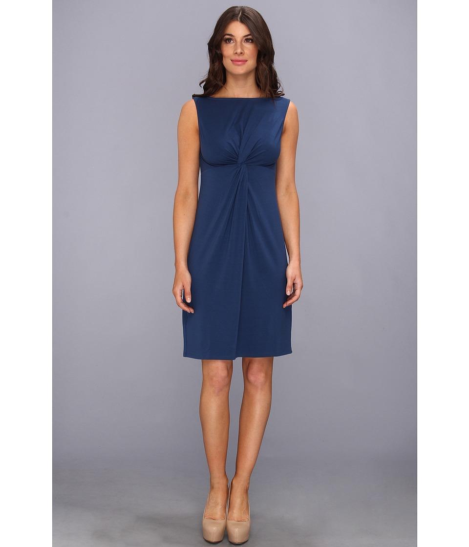 Tommy Bahama Tambour Boatneck Twist Dress Womens Dress (Blue)
