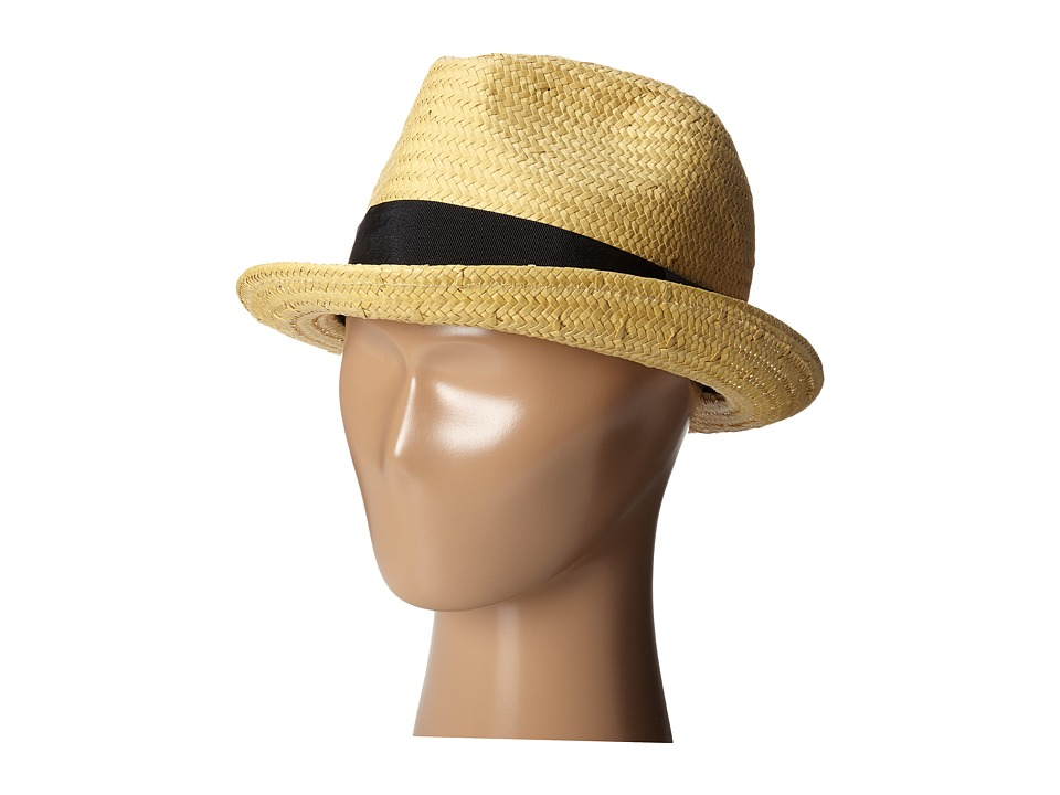 Brixton - Castor Fedora (Tan/Black) Traditional Hats