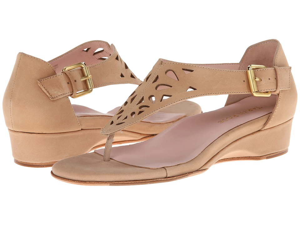 Taryn Rose - Kaiser (Beige Burnished Nabuck) Women's Sandals