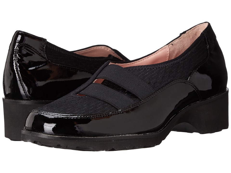 Taryn Rose - Tuuli (Black Patent/Mesh/Stretch) Women's Slip on Shoes