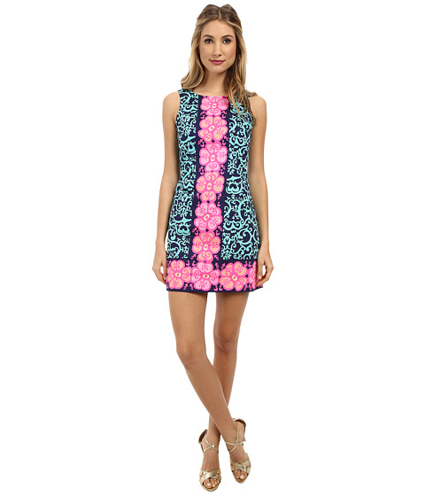 Lilly Pulitzer - Delia Shift (Bright Navy Fountain Hopping Engineered) Women