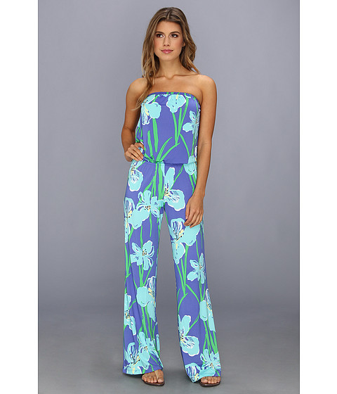 Lilly Pulitzer - Kourtney Strapless Jumpsuit (Iris Blue Chablis) Women's Jumpsuit & Rompers One Piece