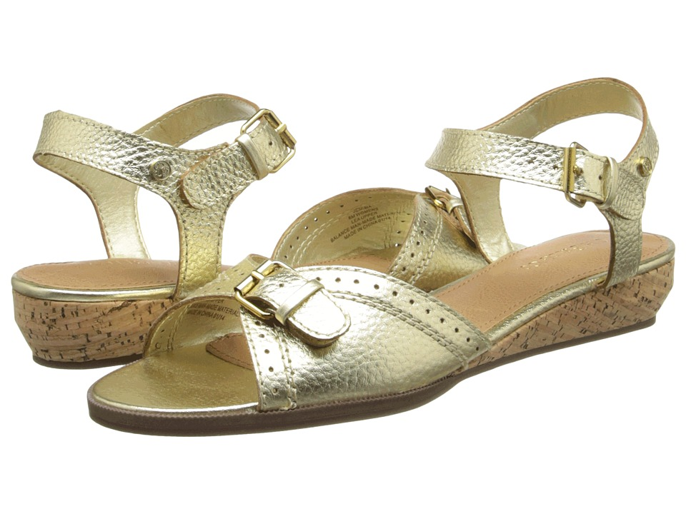 Bass - Jemima (Gold Sleek Leather) Women