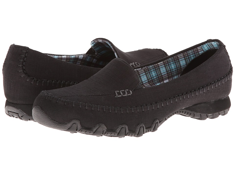 SKECHERS - Bikers - Cross Walk (Black) Women
