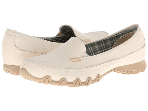 SKECHERS - Bikers - Cross Walk (Natural) Women's Shoes