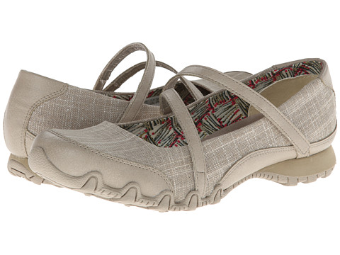 SKECHERS - Bikers - Ethereal (Taupe/Silver) Women's Shoes