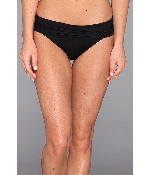 Vitamin A Swimwear - Convertible Waist Full Coverage Bottom (Eco Black) Women