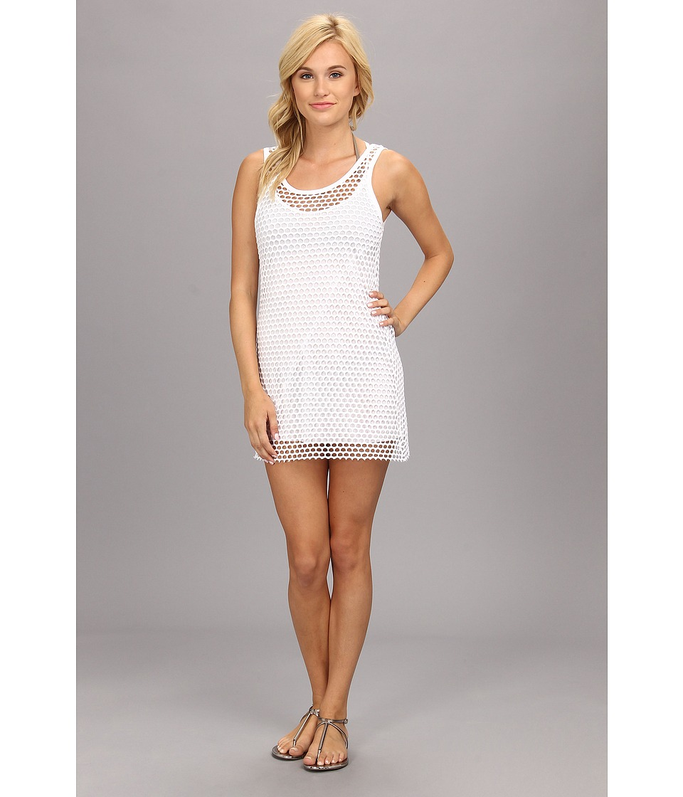 Vitamin A Swimwear - Ray 2-in-1 Minidress Cover-up (Mod Mesh White) Women