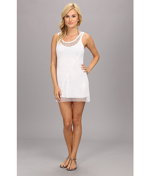 Vitamin A Swimwear - Ray 2-in-1 Minidress Cover-up (Mod Mesh White) Women's Swimwear