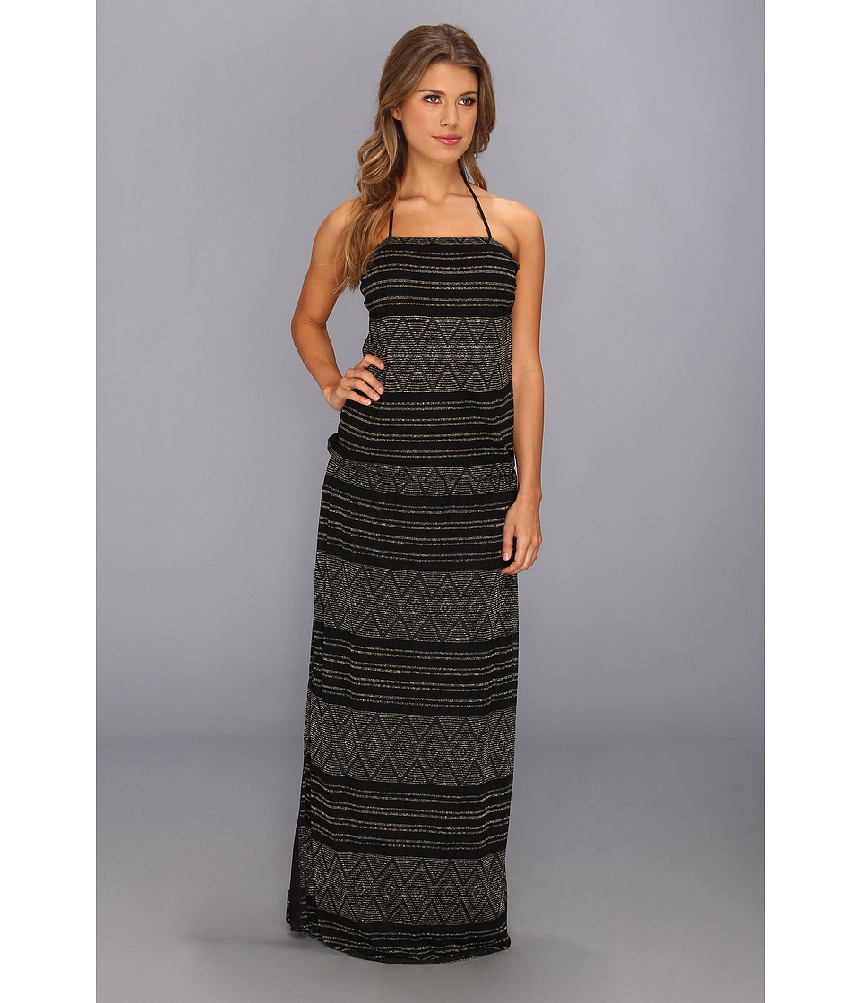 Vitamin A Swimwear - Olivia Strapless Maxi Cover-up (Black Diamond Crochet) Women's Dress