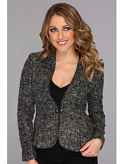 SALE! $84.99 - Save $94 on Anne Klein Tweed Fringe Jacket (Black Multi) Apparel - 52.52% OFF $179.00