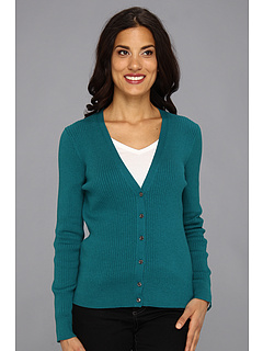 SALE! $24.99 - Save $54 on Anne Klein L S V Neck Cardigan (Teal) Apparel - 68.37% OFF $79.00
