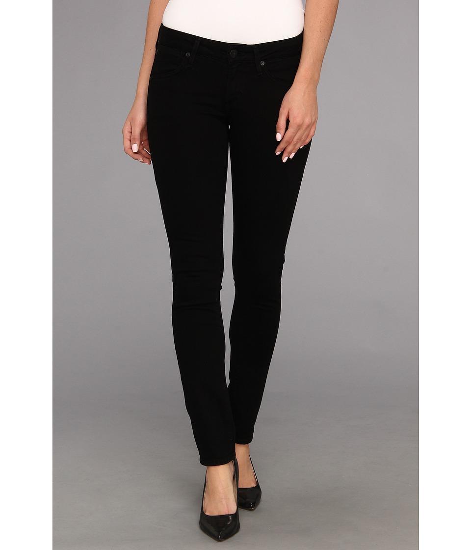 Image of A Gold E - Chloe Low-Rise Slim in Dark Knights (Dark Knights) Women's Jeans