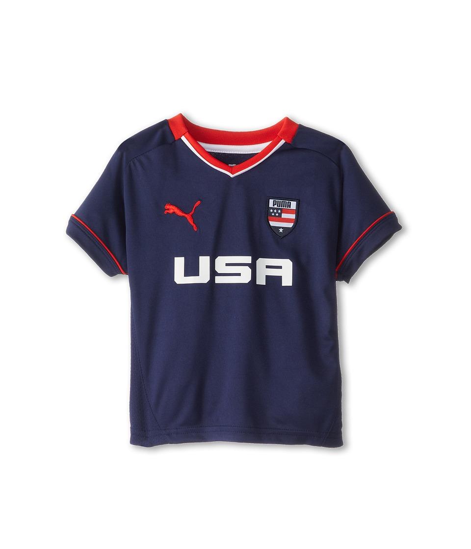 Puma Kids USA Tee Boys T Shirt (Blue)