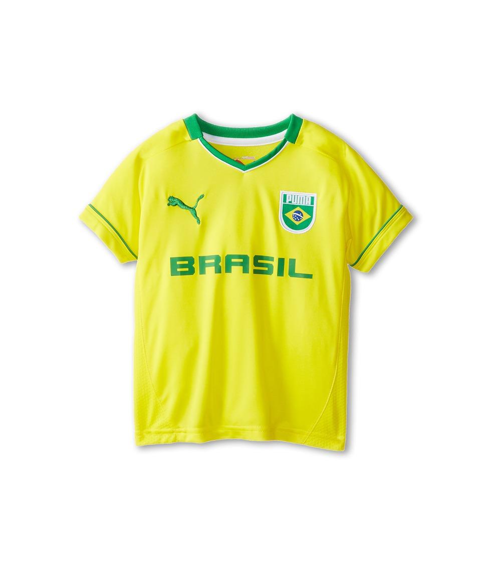 Puma Kids Brasil Tee Boys T Shirt (Yellow)