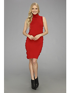 SALE! $31.99 - Save $26 on Calvin Klein Sleeveless Ruched Sweater Dress (Red) Apparel - 44.84% OFF $58.00