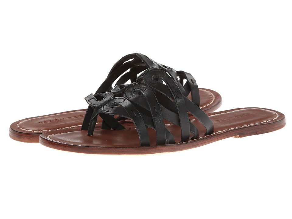 Bernardo - Magnolia (Black Vachetta/Luggage Calf) Women's Sandals
