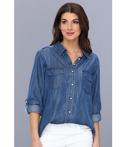 C&C California - Chambray Plain Mixed (Chambray Multi) Women's Long Sleeve Button Up