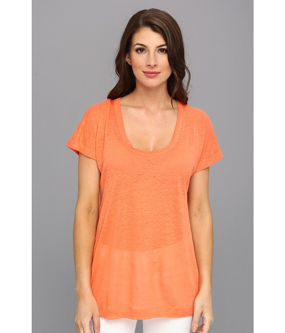 C&C California - Roll Sleeve Tee (Persimmon) Women's T Shirt