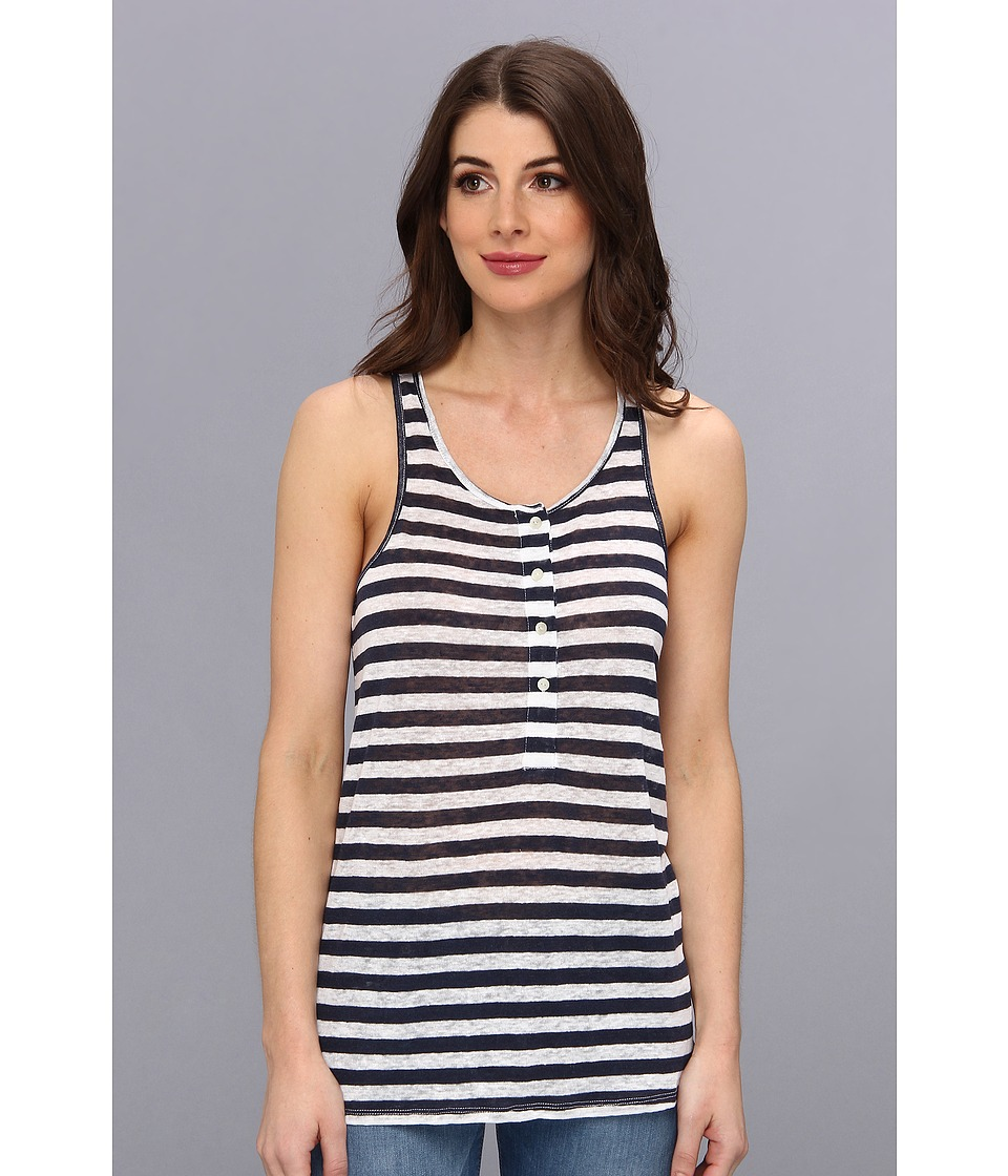 C&C California - Racer Henley Tank (Navy) Women's Sleeveless