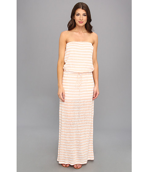 C&C California - Stripe Tube Maxi (Tropical Peach) Women's Dress