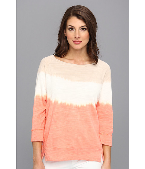 C&C California - 3/4 Sleeve Dip Dye Sweatshirt (Persimmon) Women's Sweatshirt