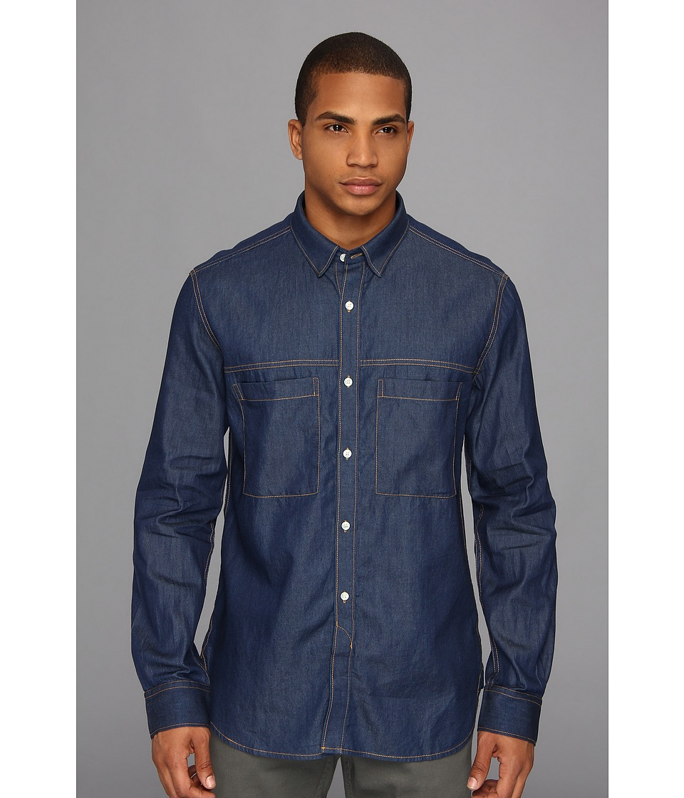 French Connection - David Denim Shirt (Garment Softener) Men
