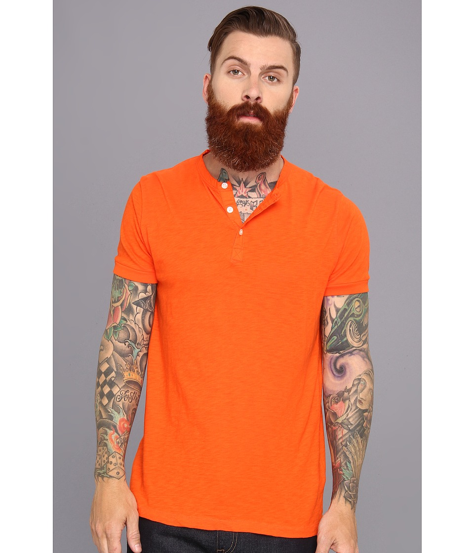 French Connection - S/S Slub Henley (SOS) Men's T Shirt