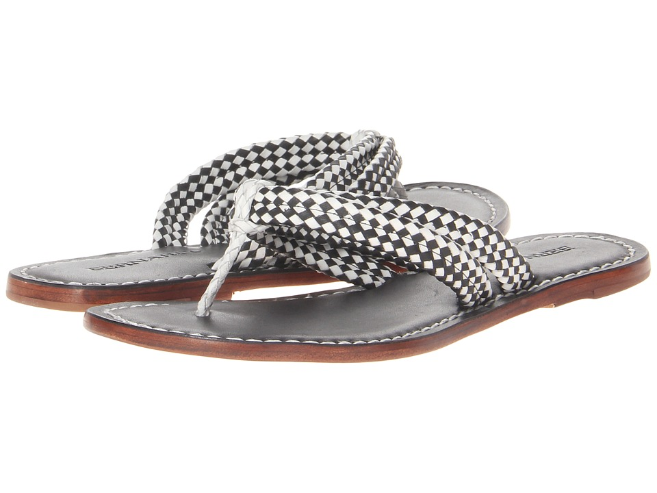 Bernardo - Miamiwoven (Black/White Calf/Black Vachetta) Women's Sandals