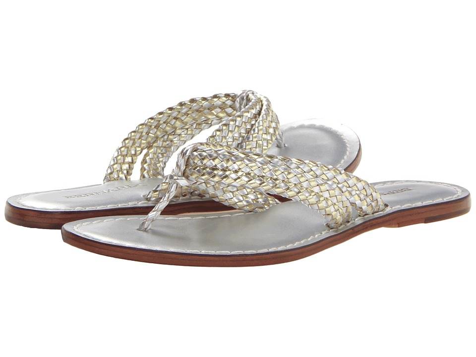 Bernardo - Miamiwoven (Gold/Silver Calf/Gold Calf) Women's Sandals