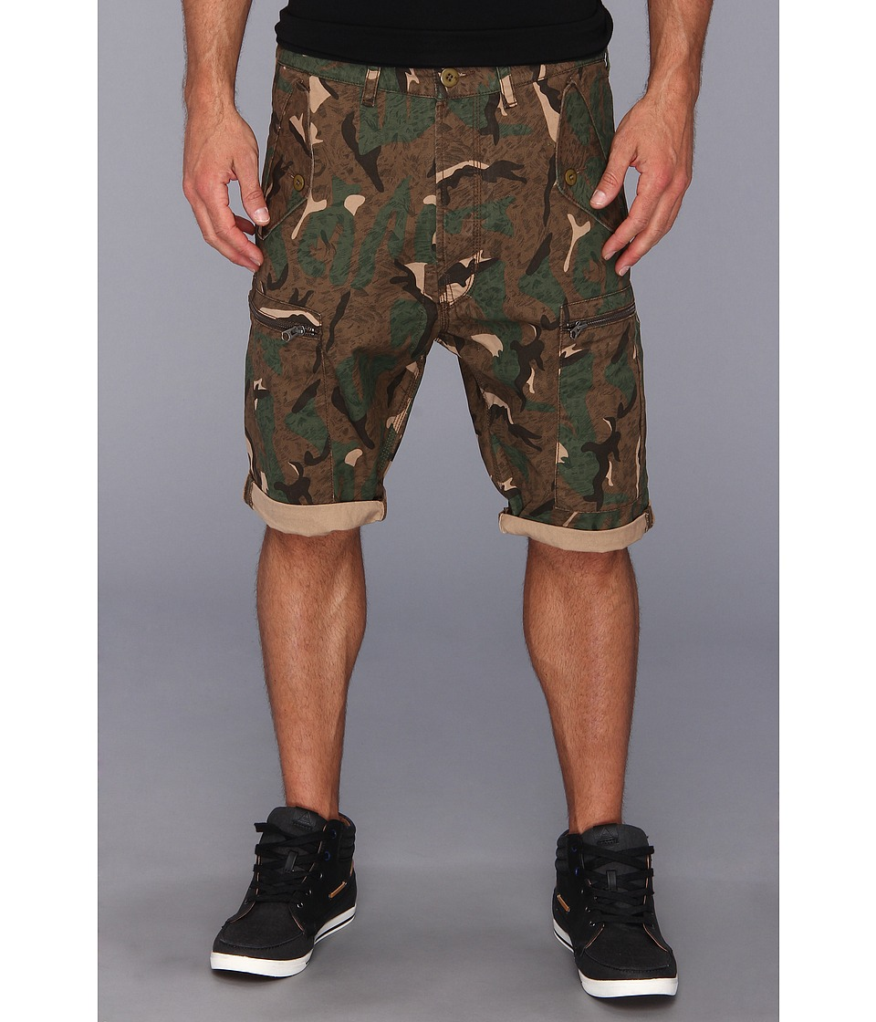 French Connection - Painted Camo Short (Milti) Men's Shorts