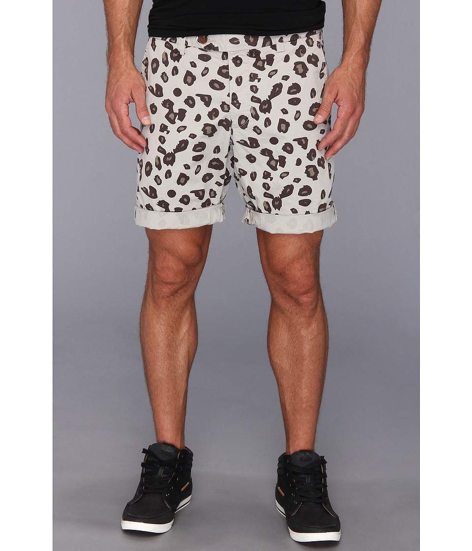 French Connection - Pelt Print Shorts (Vintage Khaki) Men