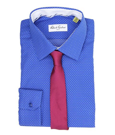 Robert Graham - Clarence L/S Dress Shirt (Navy) Men's Long Sleeve Button Up