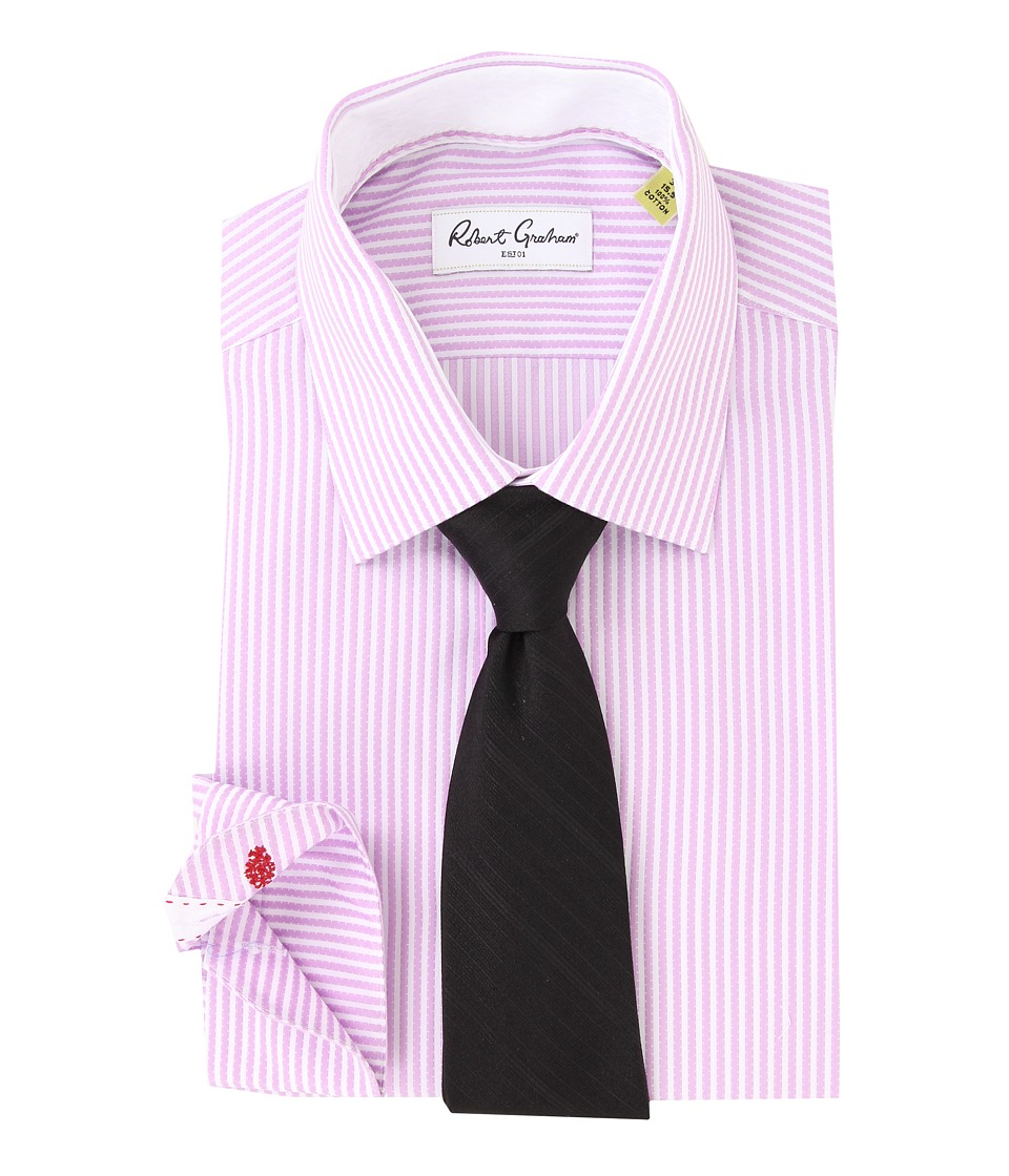 Robert Graham - Steve L/S Dress Shirt (Lavender) Men's Long Sleeve Button Up