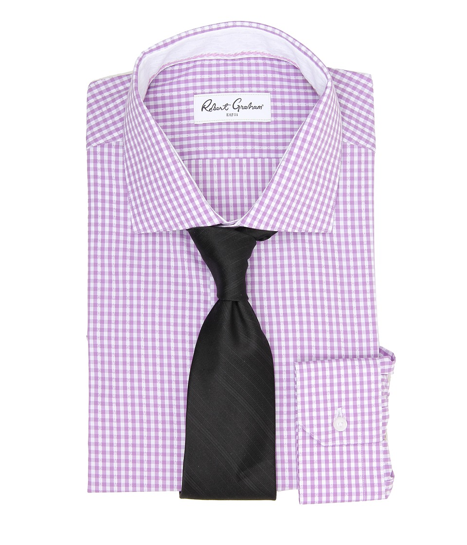 Robert Graham - Jaylon L/S Dress Shirt (Lavender) Men's Long Sleeve Button Up
