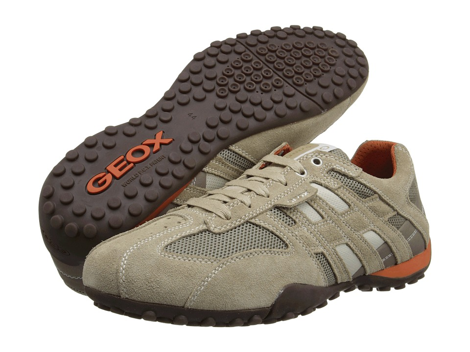 Geox - Uomo Snake 94 (Beige/Dark Orange) Men's Lace up casual Shoes