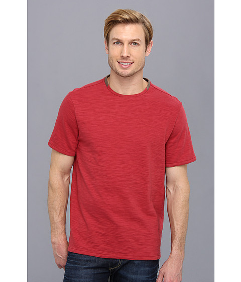Elie Tahari - Galvin Cotton Slub Knit Shirt J35AK504 (Red Desert) Men's Short Sleeve Pullover